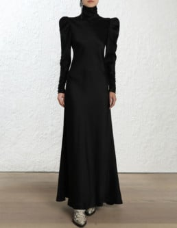 ZIMMERMANN Unbridled Valiant Tunic Black Dress