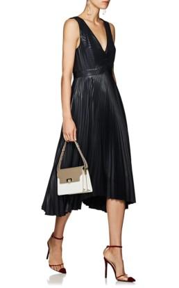 A.L.C. Marisol Pleated Lamé Midnight Dress