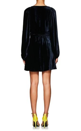 A.L.C. Velvet Wrap Navy Dress
