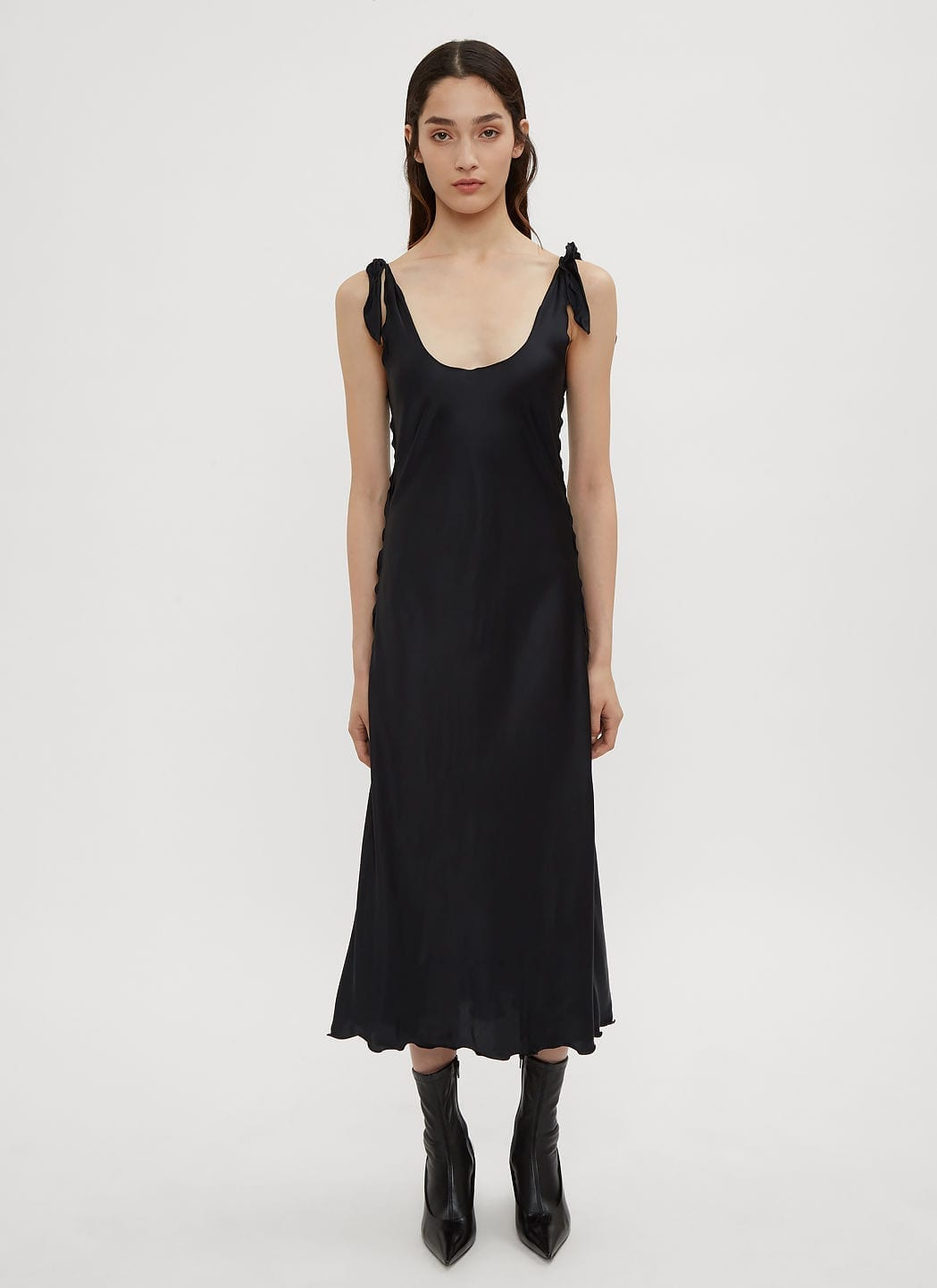 Acne Studios Bias Cut Slip Navy Dress