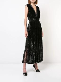 ADAM LIPPES Pleated Black Dress