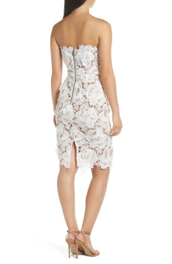 ADELYN RAE Jade Strapless Lace White Dress 2
