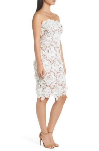 ADELYN RAE Jade Strapless Lace White Dress 3