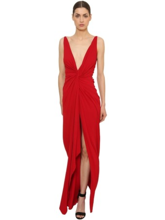 ALEXANDRE VAUTHIER Knot Stretch Jersey Red Dress