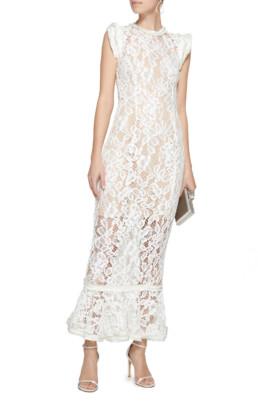 ALEXIS Kleo Lace Midi White Dress