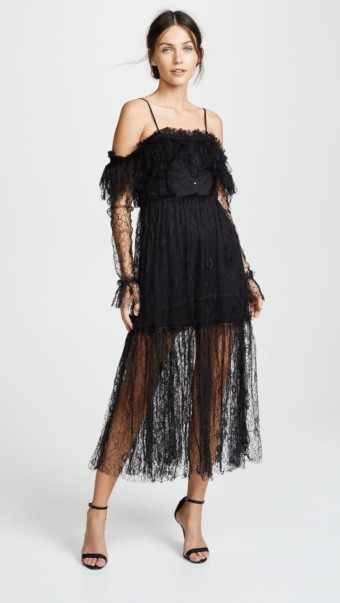 ALICE MCCALL Just The Way You Are Black Dress