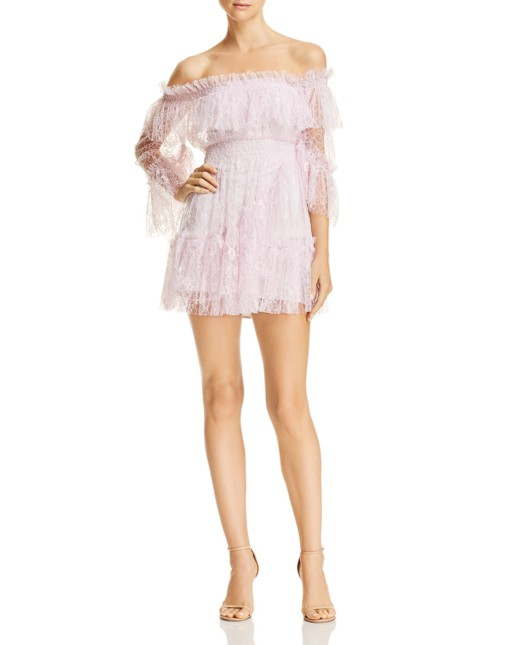 ALICE MCCALL Only Hope Lace Mini Lilac Dress