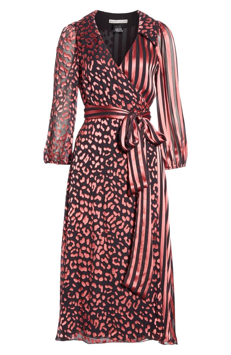 Alice Olivia Aail Wrap Rose Dress 6