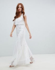 AMELIA ROSE 2-in-1 Embellished Wedding White Dress