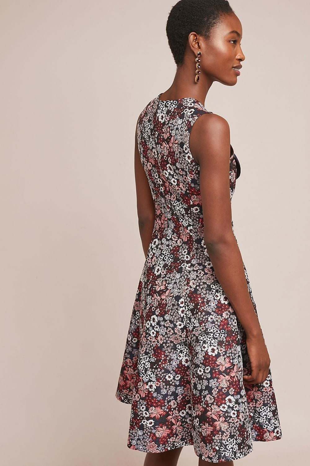 28d8fd2e72b2 ANTHROPOLOGIE Bow-Tied Red / Floral Printed Dress - We Select Dresses