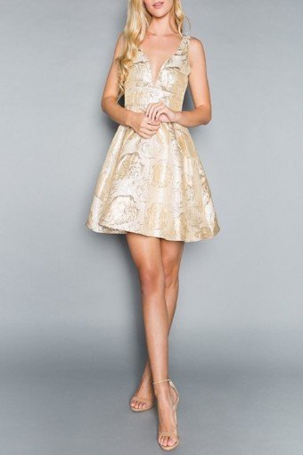 APRICOT LANE Go For Gold Yellow Dress
