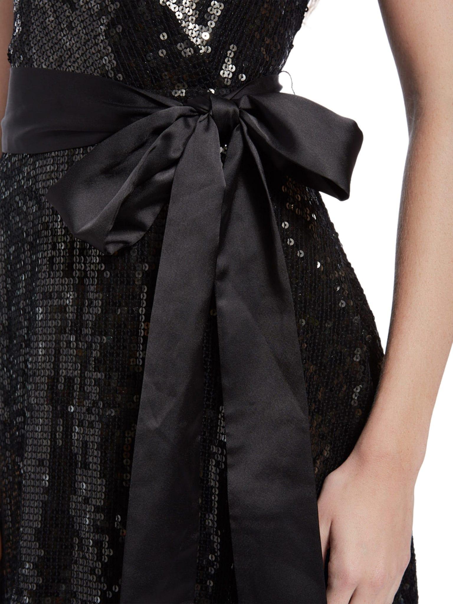 9ba4099f10 Alice + Olivia Bayley Sequin Mini Black Dress - We Select Dresses