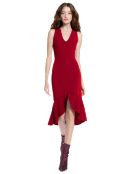 Alice + Olivia Blakesley Fitted Cocktail Red Dress