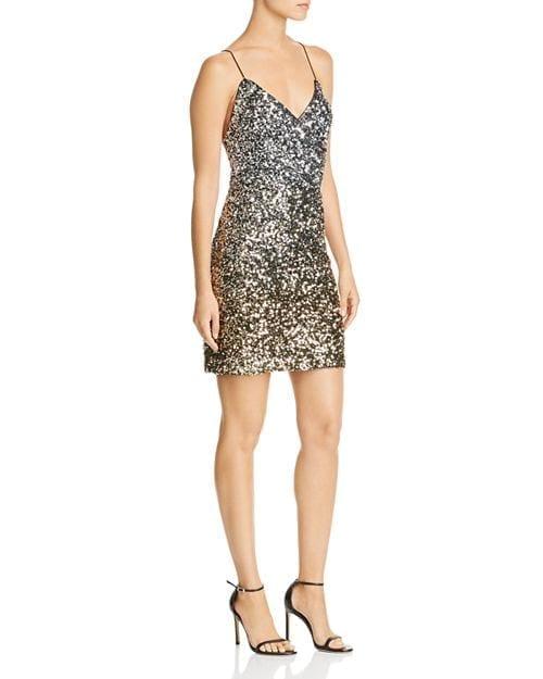 BARDOT Sequined Mini Silver Dress