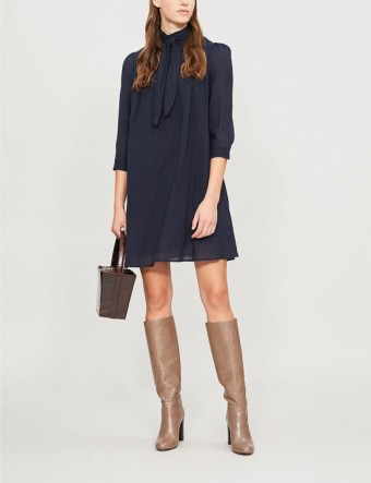 BA&SH Pivo Woven Blue Dress