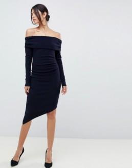 BEC & BRIDGE Off Shoulder Blue Dress