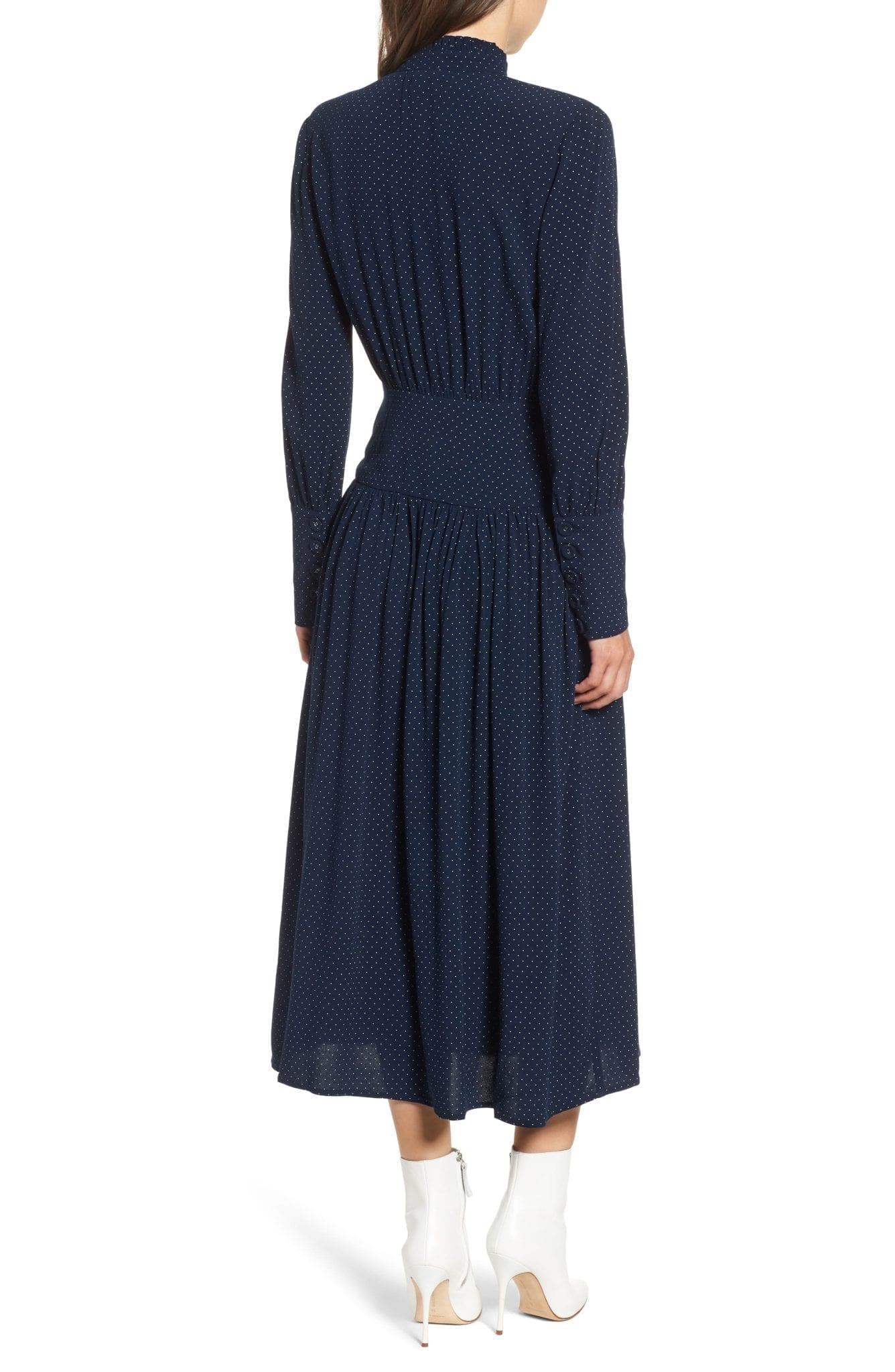Chelsea28 Side On Midi Navy Dress