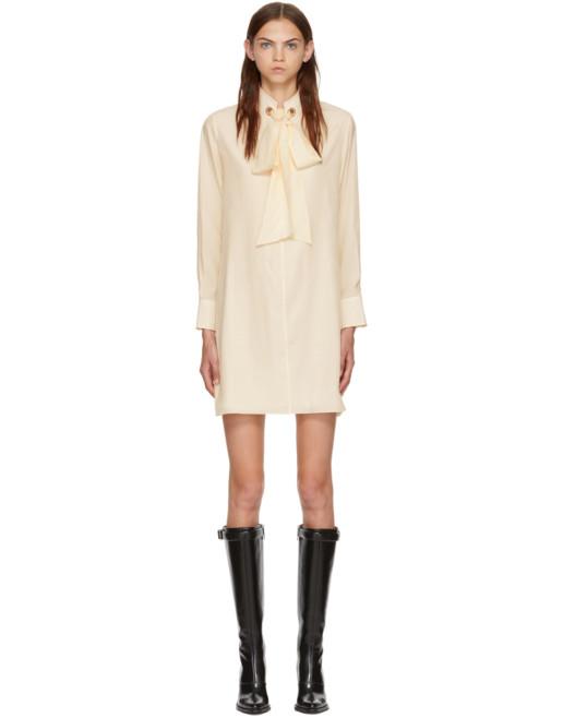 CHLOÉ Silk White Dress