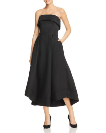 C/MEO Collective Visceral Strapless Black Gown