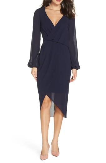 COOPER ST Ginger Asymmetrical Navy Dress