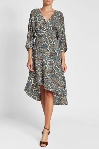 DIANE VON FURSTENBERG Asymmetric Silk Multi / Printed Dress