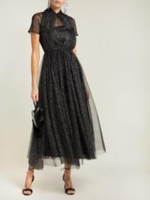 EMILIA WICKSTEAD Gabriel Glittered Tulle Black Gown