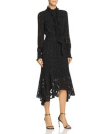 EQUIPMENT Palo Embroidered Black Dress