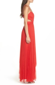 FAME AND PARTNERS Dakota Cutout A-Line Red Gown 3