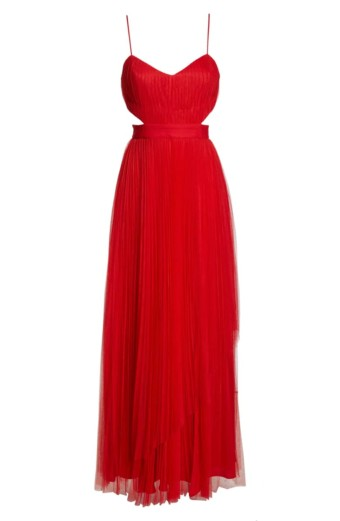 FAME AND PARTNERS Dakota Cutout A-Line Red Gown 6