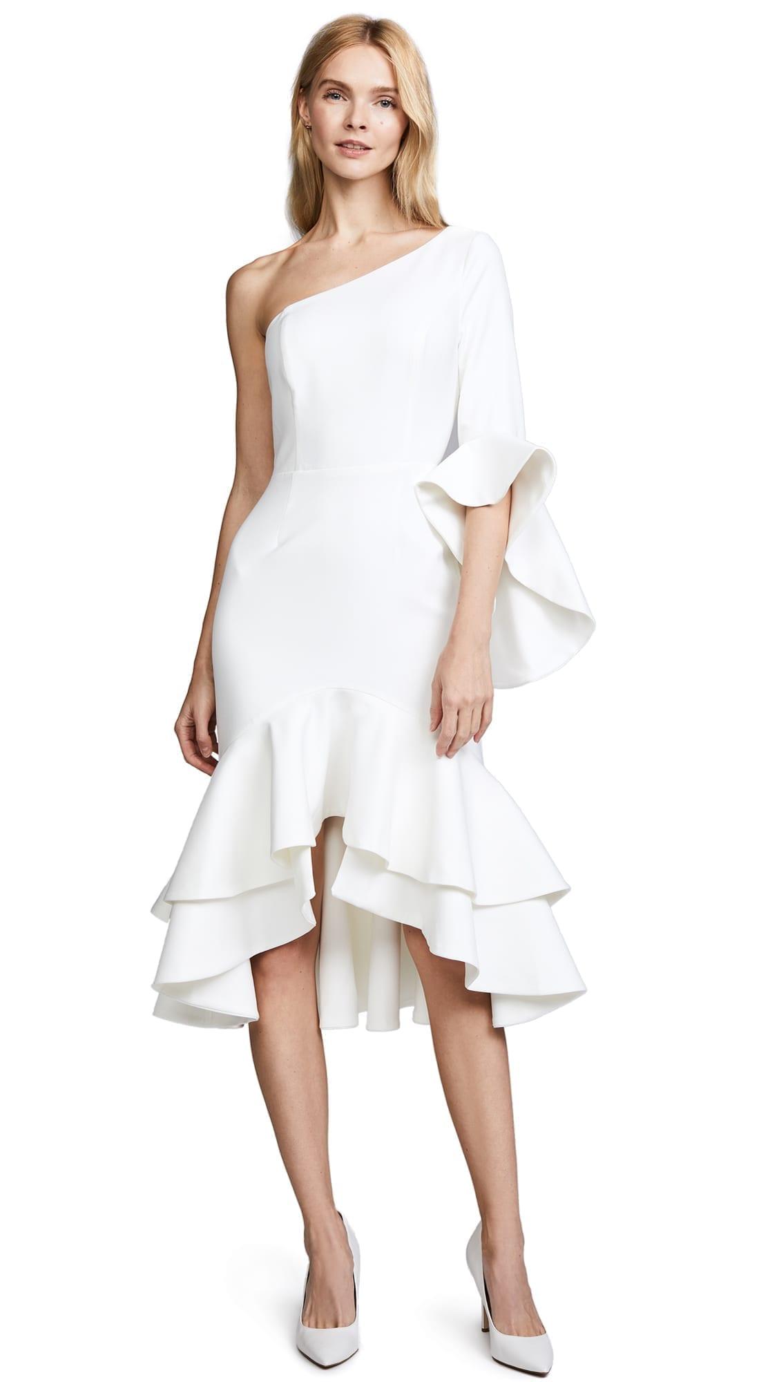 FAME AND PARTNERS Natalia White Dress
