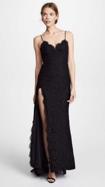 FAME AND PARTNERS The Everett Black Dress
