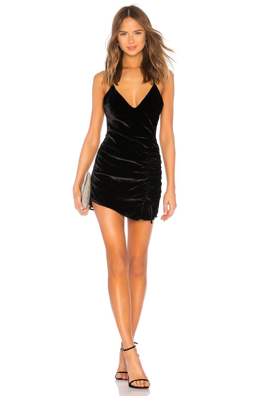 FOR LOVE & LEMONS Viva Velvet Mini Black Dress