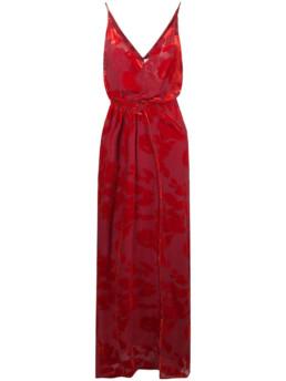 GALVAN Rose Velvet Red Gown
