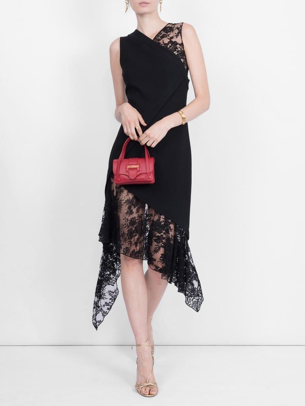 GIVENCHY Assymetrical Black Dress
