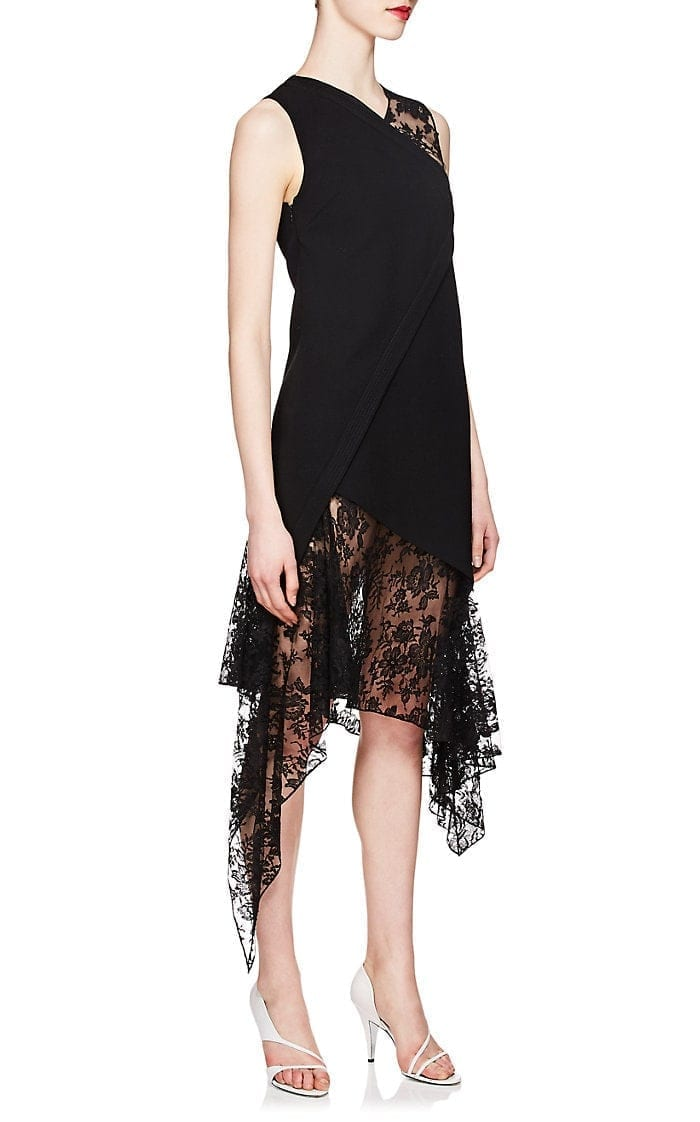 299b5a89c57a GIVENCHY Mixed-Media Wool Midi Black Dress - We Select Dresses