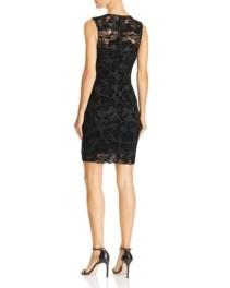 GUESS Drea Sleeveless Flocked-Lace Black Dress 2