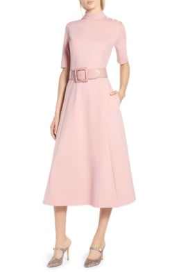 HALOGEN® x Atlantic-Pacific Stretch Ponte Pink Dress