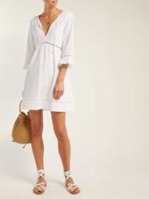 HEIDI KLEIN Palermo Broderie-Anglaise Cotton White Dress