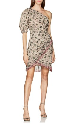 ISABEL MARANT ÉTOILE Esther Cotton Voile Wrap Mini Multicolored Dress