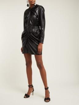 ISABEL MARANT Soya Draped Mini Black Dress