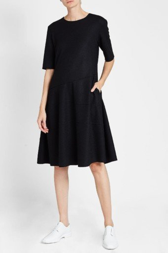 JIL SANDER Wool Black Dress