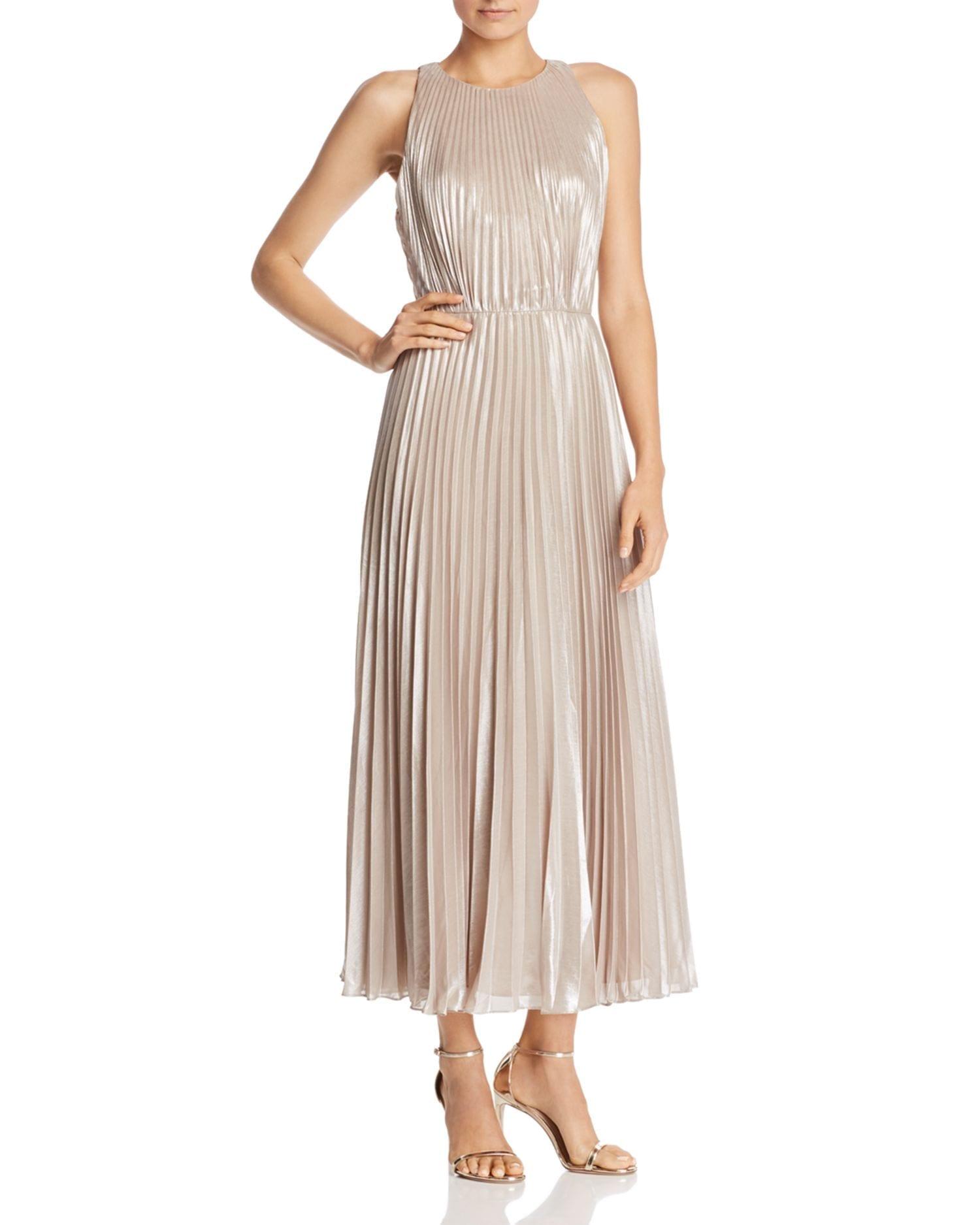 b406bd65311 JILL JILL STUART Metallic Chiffon Champagne Gown - We Select Dresses