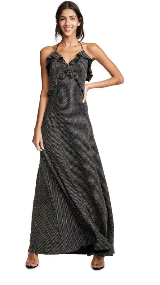 JILL JILL STUART Metallic Stripe Dress