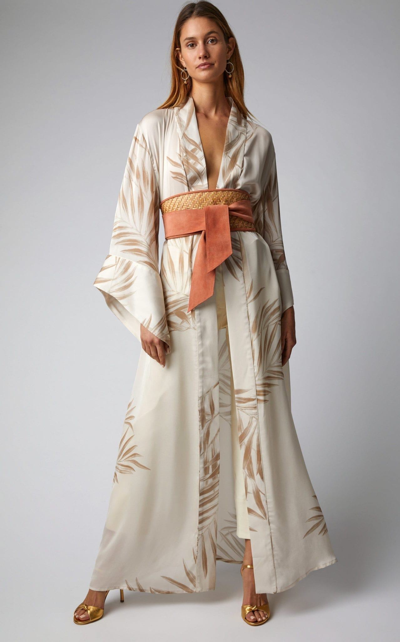 JOHANNA ORTIZ Buena Vista Silk Kimono Neutral / Printed Dress
