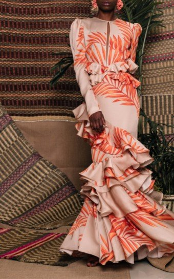 JOHANNA ORTIZ California Dreaming Silk Georgette Orange Dress