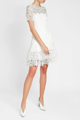 JONATHAN SIMKHAI Lace Mini White Dress