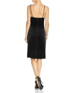 LAUNDRY BY SHELLI SEGAL Ruched Velvet Black Dress 2