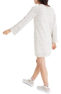 MADEWELL Button-Sleeve Sweater Donegal Snow Dress 2