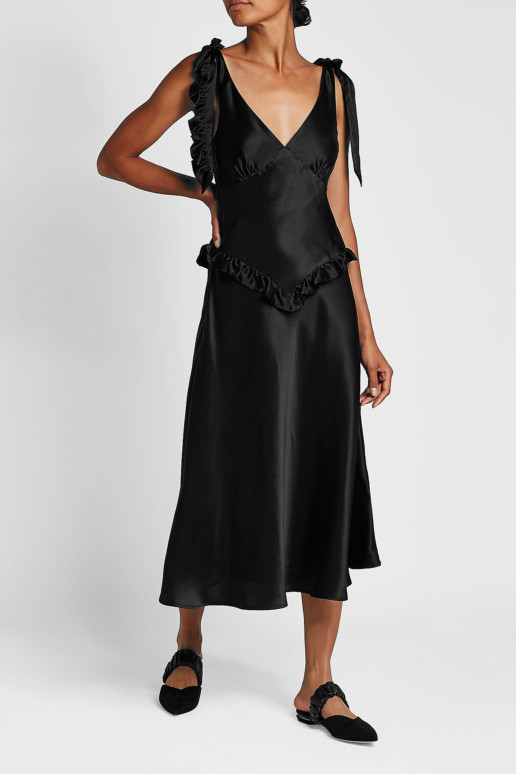 MAGGIE MARILYN You're The One Silk Black Dress