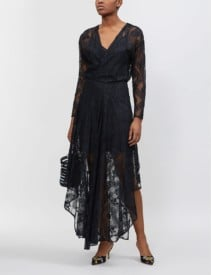 MAJE Riletta Lace Black Dress